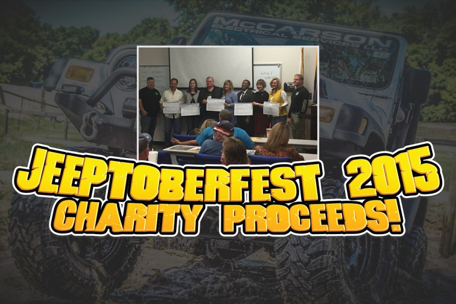 Jeeptoberfest 2015 raised a total of $75,000 for 5 local charities!